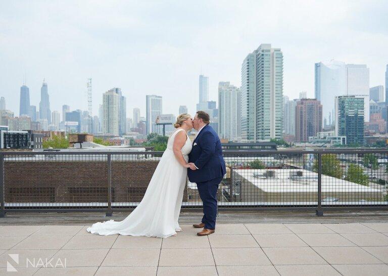 west loop wedding photos Morgan MFG rooftop