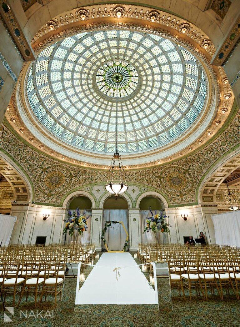 Chicago cultural center wedding ceremony photos