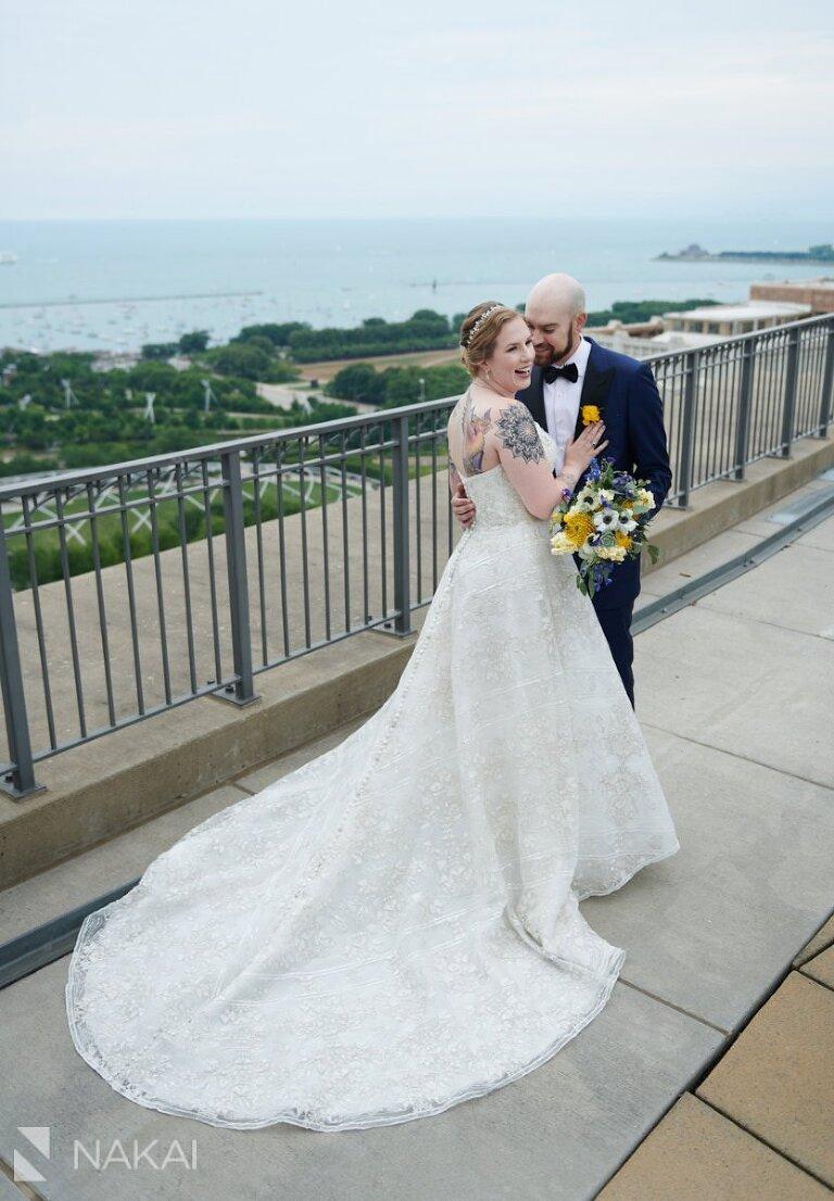 rooftop chicago wedding photos