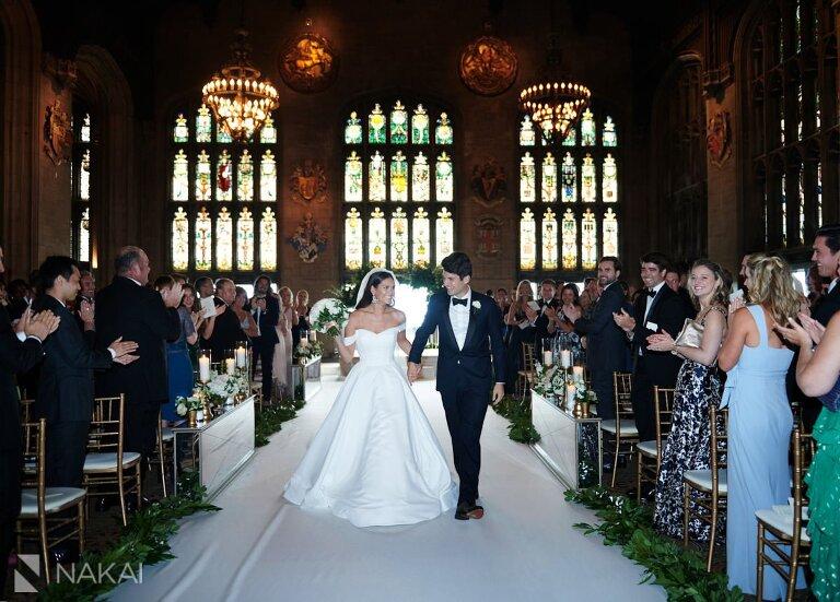 university club wedding photography bride groom ceremony exit