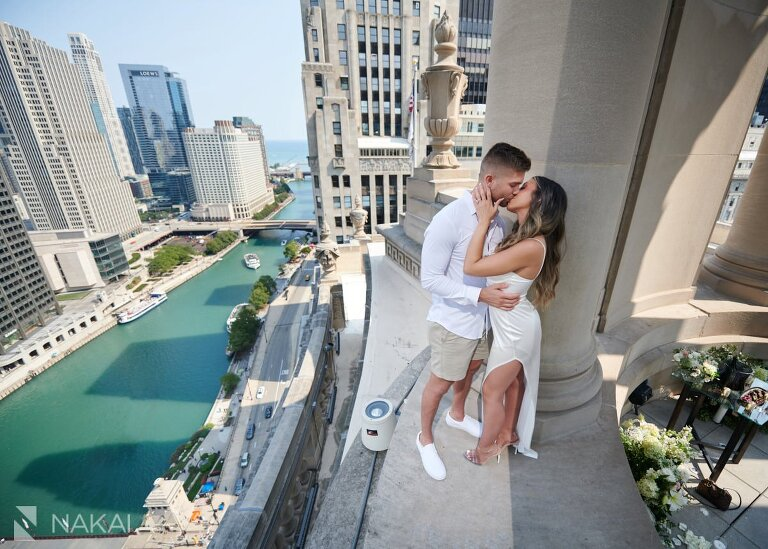londonhouse proposal photographer chicago rooftop cupola