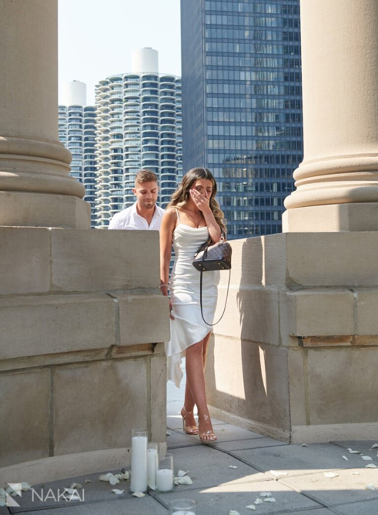 londonhouse proposal photography chicago rooftop cupola