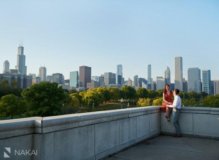 chicago museum campus engagement photos