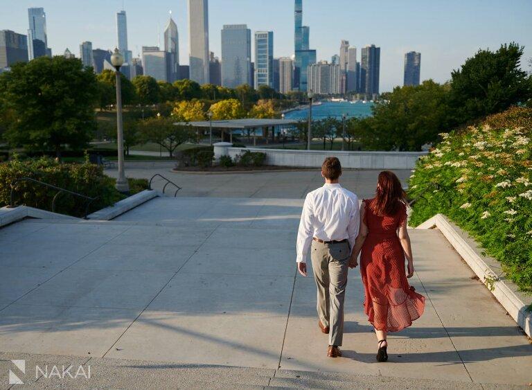 chicago museum campus engagement pictures