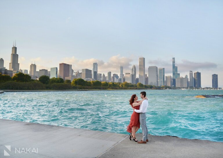 chicago museum campus engagement photos water skyline